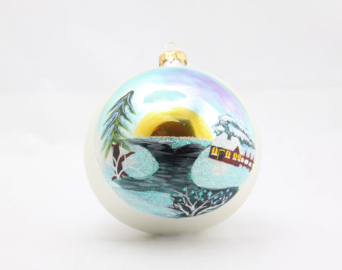Christmas Scene Globe Ornament - Gifts by Kasia - 1