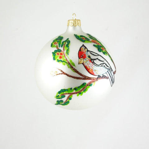 Cardinals on Branches Christmas Ornament - www.giftsbykasia.com - 1