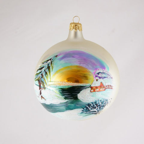 White Sunset Christmas Ornament - www.giftsbykasia.com - 1