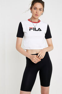 FILA Anna Fitted Tee - White / Black / Red