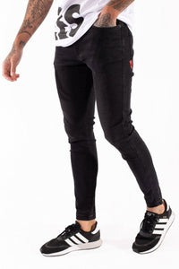 11 Degrees Stretch Jeans Skinny Fit - Jet Black Wash