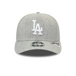 LOS ANGELES DODGERS HEATHER BASE GREY STRETCH SNAP 9FIFTY CAP