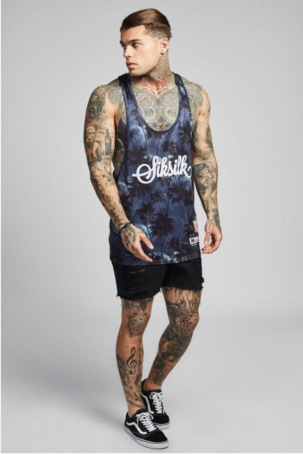 SikSilk  Palm Rework Poly Vest – Deep Navy