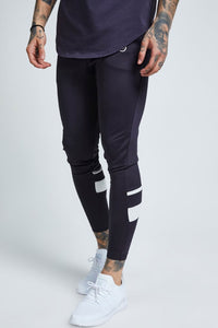 SikSilk  Sprint Tracksuit Pant - Navy - Medium