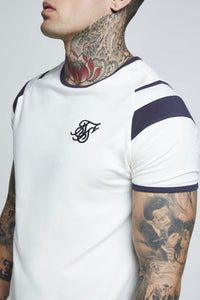 SikSilk  S/S Sprint Gym Tee - Off-White