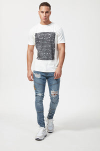 Hermano Adder Print T-Shirt - White