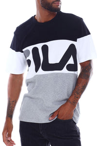 FILA Vialli Tee - Black / White / Grey
