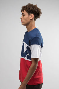 FILA Vialli Tee - Navy / White / Red