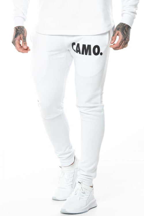 CAMO. Fleece Joggers - White