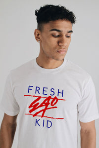 Fresh Ego Kid Heritage Logo Tee - White / Red