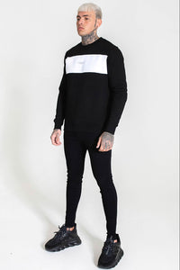 Good For Nothing Panel Sweater - Black / White