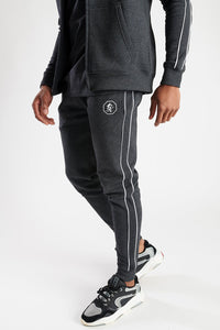 Gym King Fight Division Fleece Tracksuit Bottoms - Charcoal