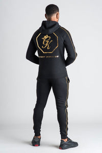 Gym King Fight Division Fleece Tracksuit Bottoms - Black