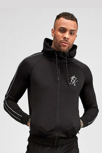 Gym King Reflective Lester Poly Tracksuit Top - Black