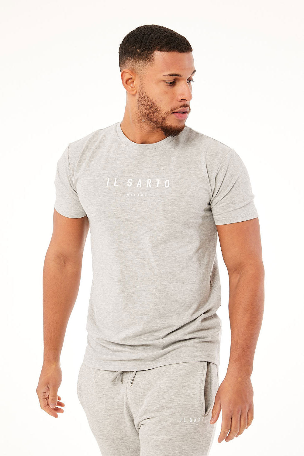 Il Sarto Essential Log Tee - Grey Marl