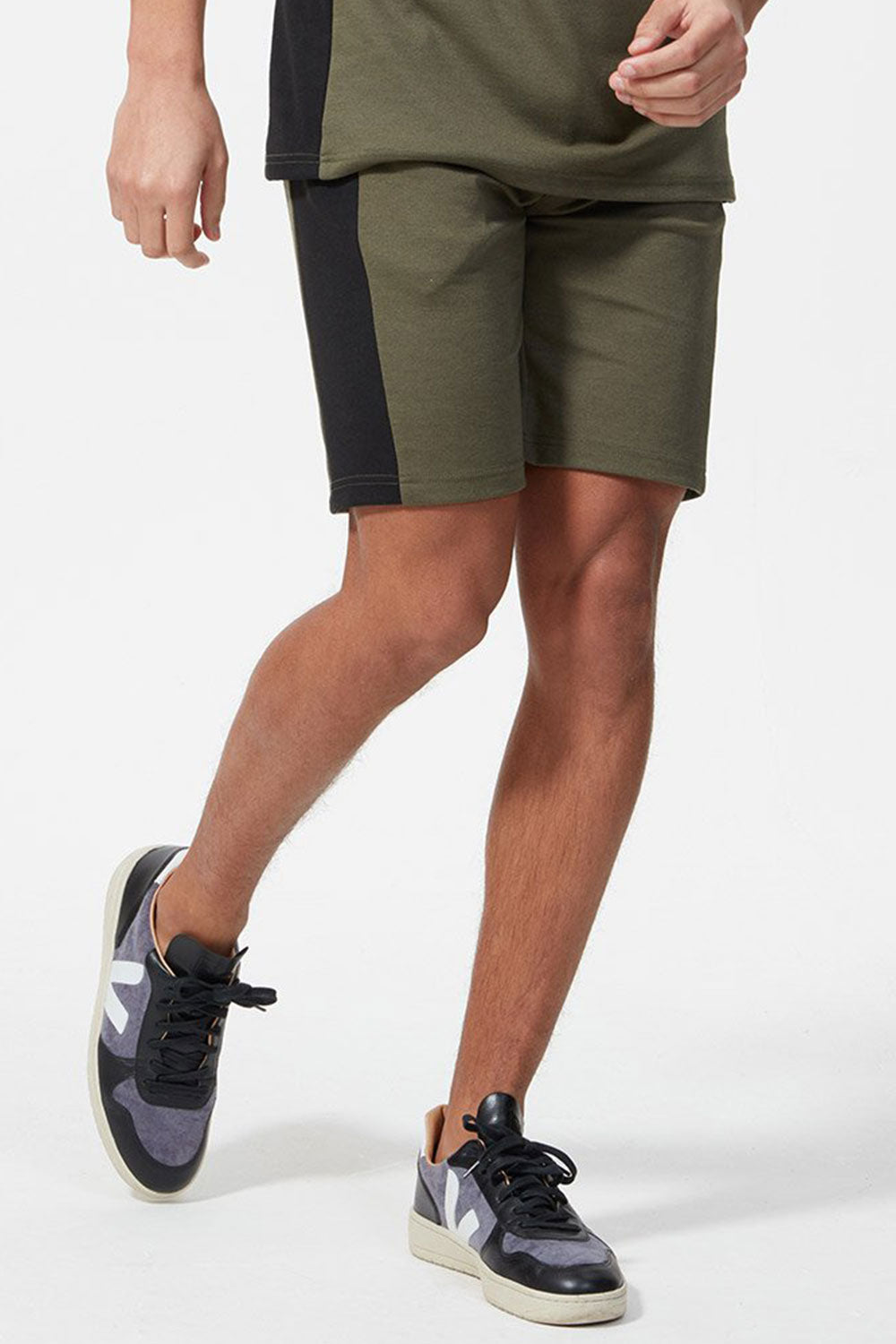 Hermano Side Panel Jersey Short - Forest / Black
