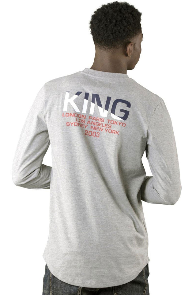 King Apparel Homerton Longsleeve Tee - Stone
