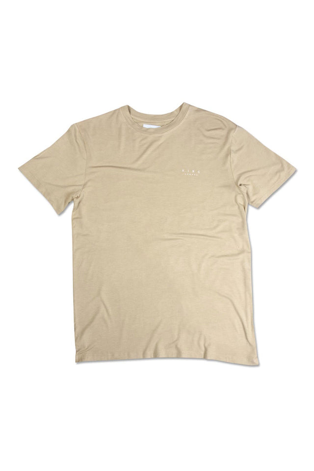 King Apparel Stepney T Shirt - Sand