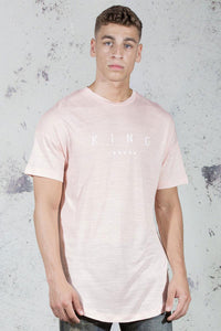 King Apparel Wapping Drop Shoulder T Shirt - Blush