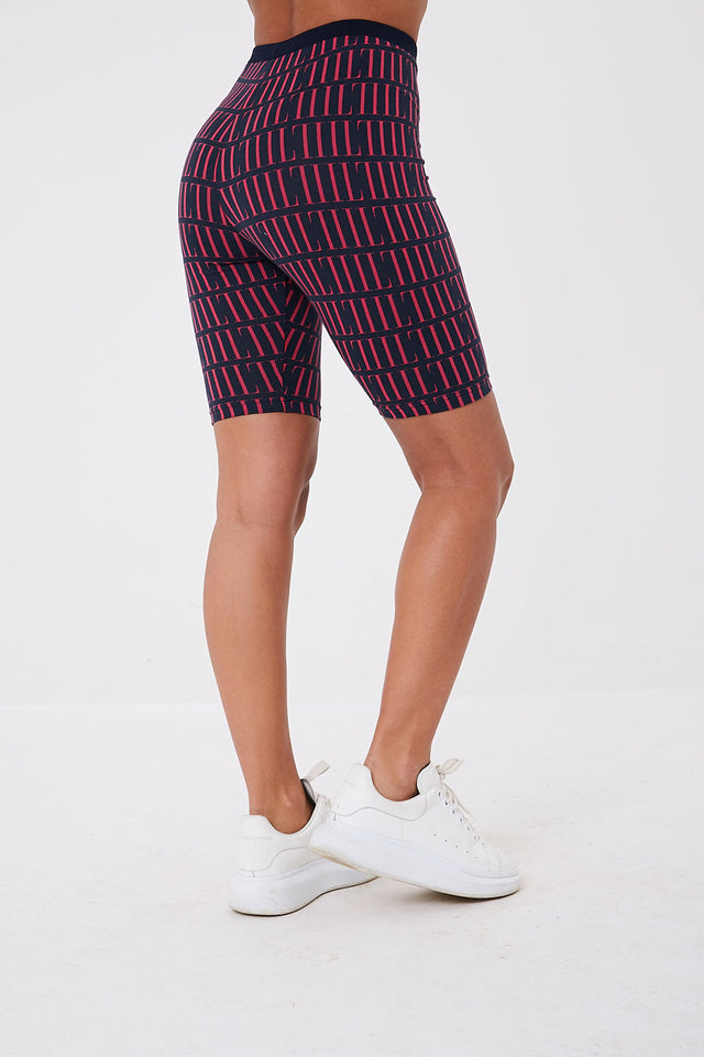 Il Sarto Lucia Repeat Cycling Shorts - Navy/Red