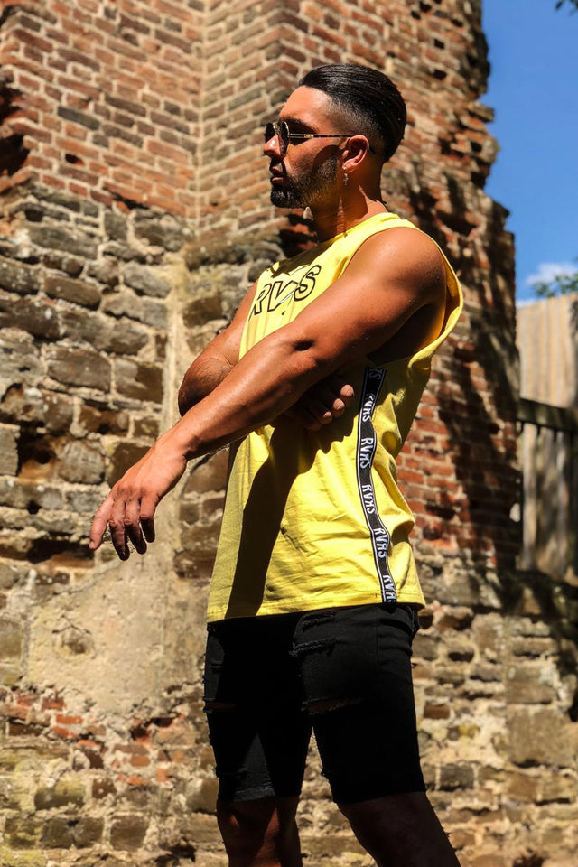 RVRS Sleeveless Tape Vest - Yellow