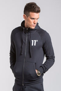 11 Degrees Core Zip Up Hoodie - Black