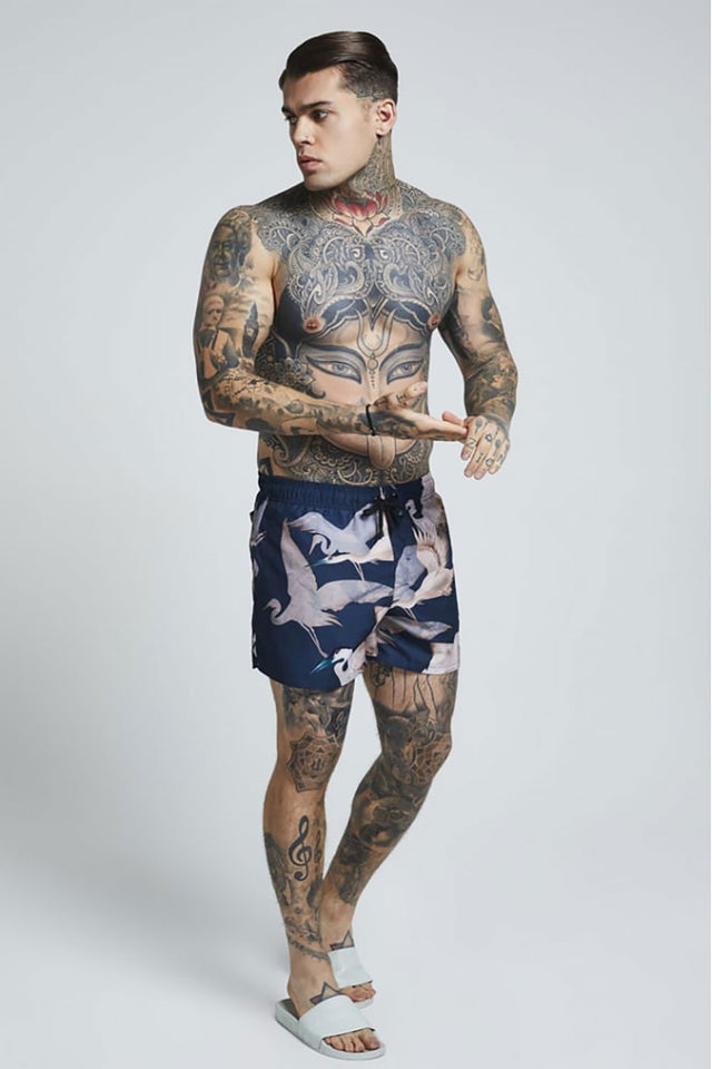 SikSilk  Standard Swim Shorts – Heron