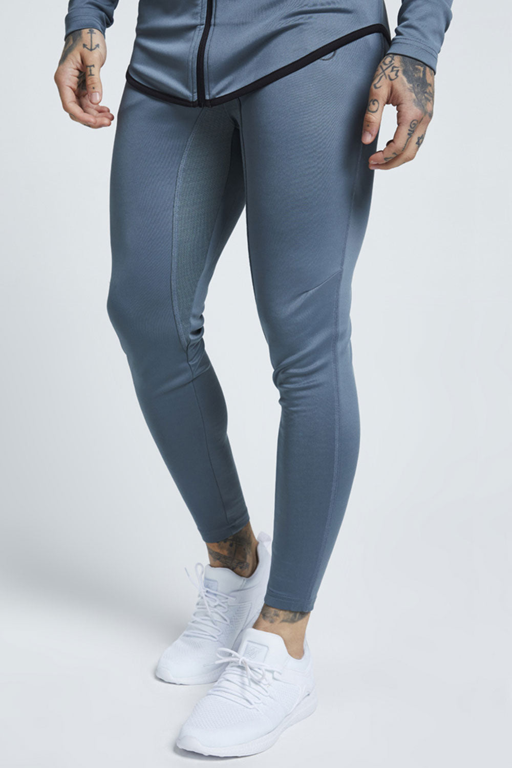 SikSilk Athlete Track Pants – Aqua Grey