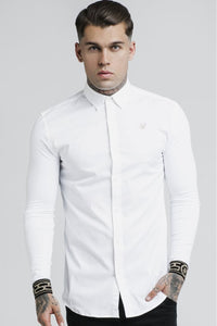 SikSilk L/S Cartel Shirt - White & Gold