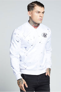 SikSilk Marble Poly Tricot Bomber – Off White