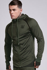 SikSilk Zonal Zip Through Track Top – Khaki