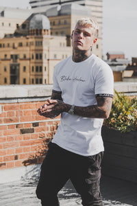 Blake Harlow Miami Signature Tape Tee - White