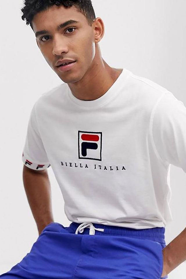 FILA Rosso Graphic Tee - White / Navy /Red