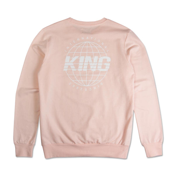King Apparel Bethnal Summer Track Sweatshirt - Blush