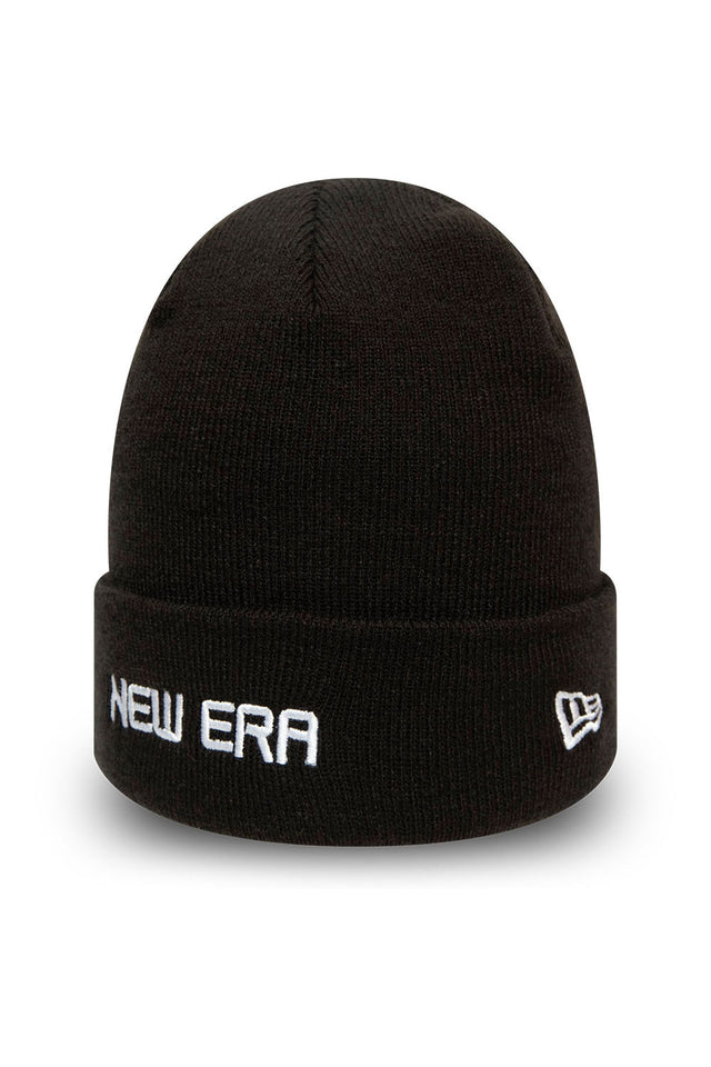 NEW ERA ESSENTIAL WHITE WORDMARK CUFF KNIT
