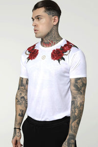 SikSilk S/S Majestic Curved Hem – White
