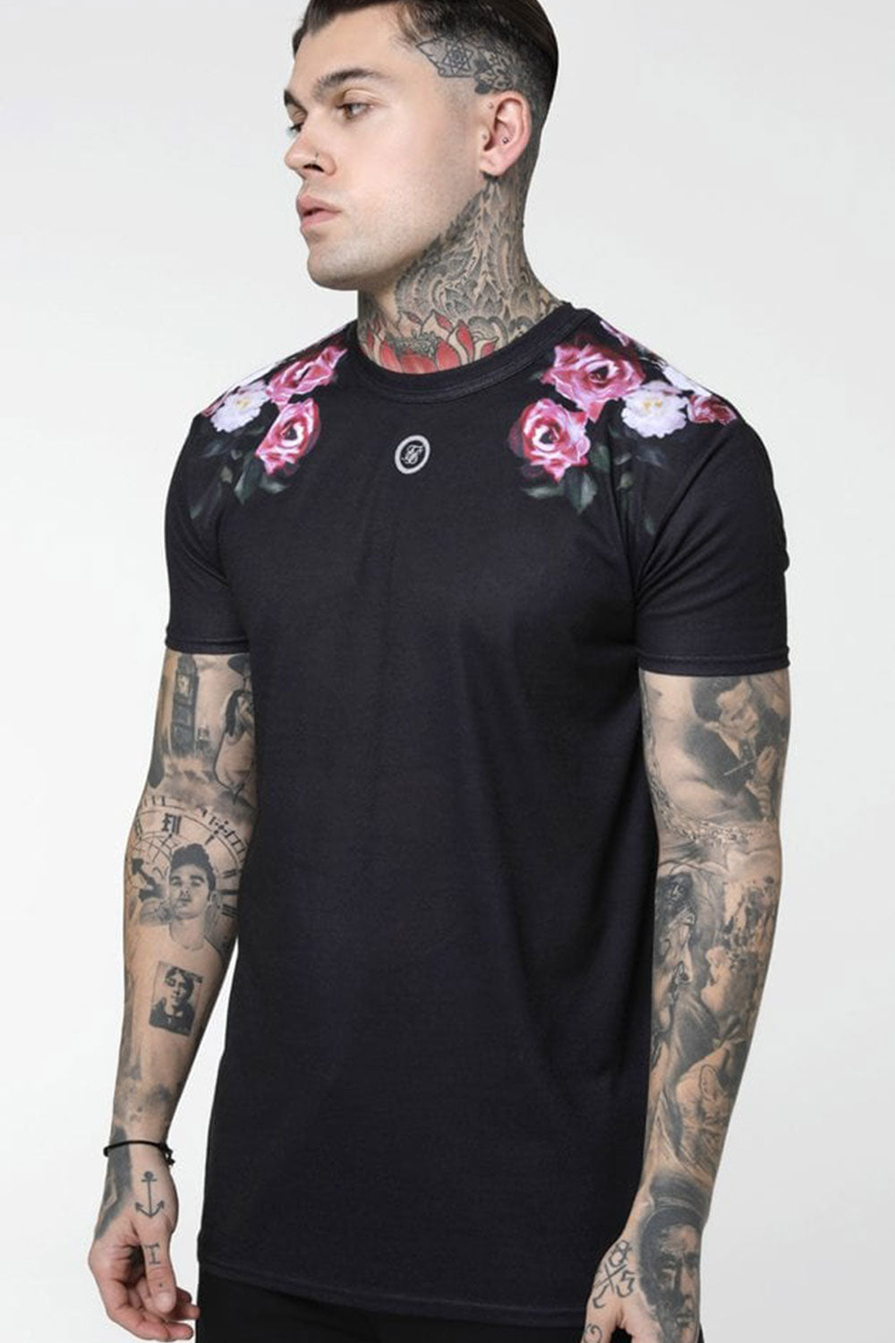 SikSilk S/S Oil Paint Box Tee - Black