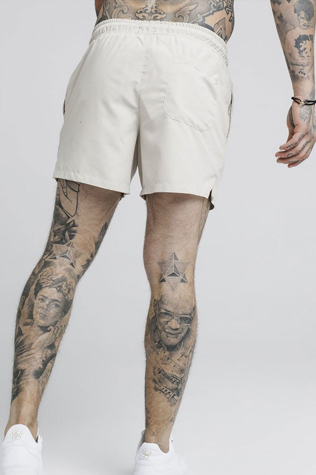 SikSilk Standard Swim Shorts – Light Beige