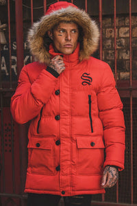 Sinners Attire Arctic Parka Jacket - Red
