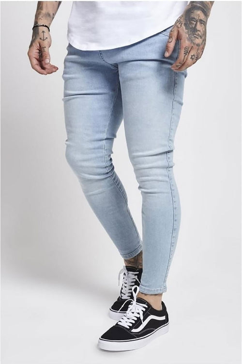 SikSilk Skinny Denim – Light Blue