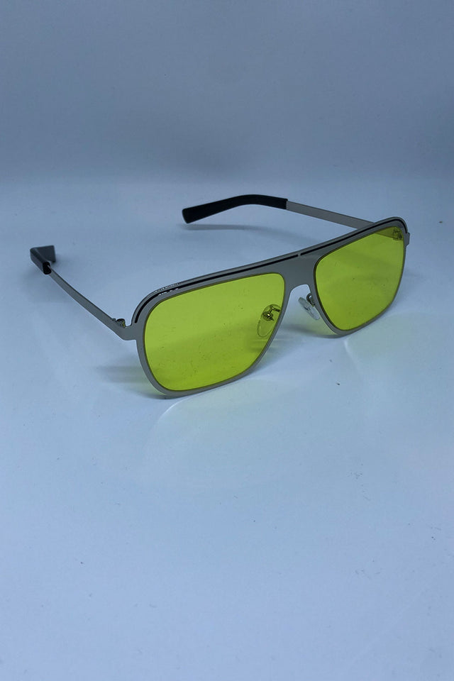 Reverse Aviator Glasses - Yellow