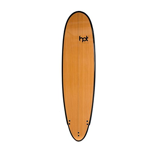 Hot Surf69 7ft Epoxy Mini Mal Surfboard - Bamboo