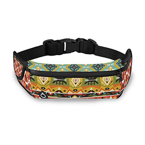 NOLYXICI Tribal Love and Adventure Aztec Print,Bumbags and Fanny Packs for Running Hiking Waist Bag Outdoor Sport Hiking Waistpack for Men Women