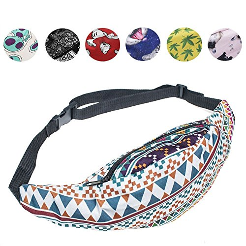 Bum Bag, Fashion Travel Fanny Bag Super Lightweight For Travel Waist Pack (AZTEC MORSKI)