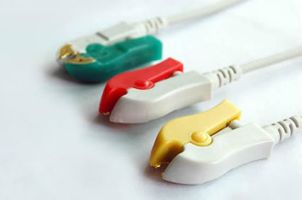 Philips Compatible 3 Lead ECG Leadwire Set