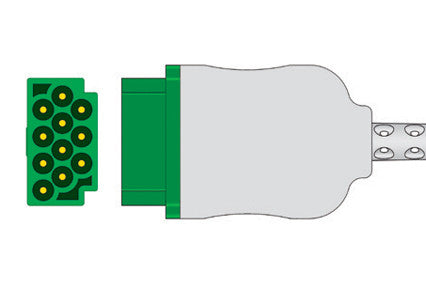 GE Marquette Compatible 6-Lead One-Piece ECG Cable connector1