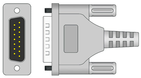 Philips Compatible EKG Cable connector1