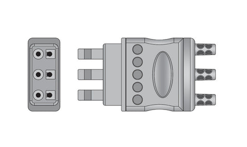 Philips 3 Lead ECG Connector connector1
