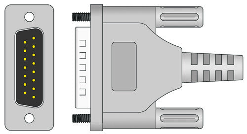 Schiller Compatible EKG Cable (Short Screw) connector1