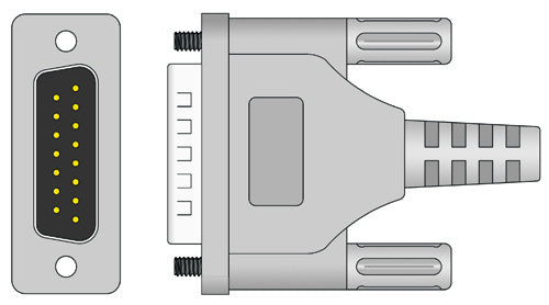 Spacelabs Compatible EKG Cable connector1